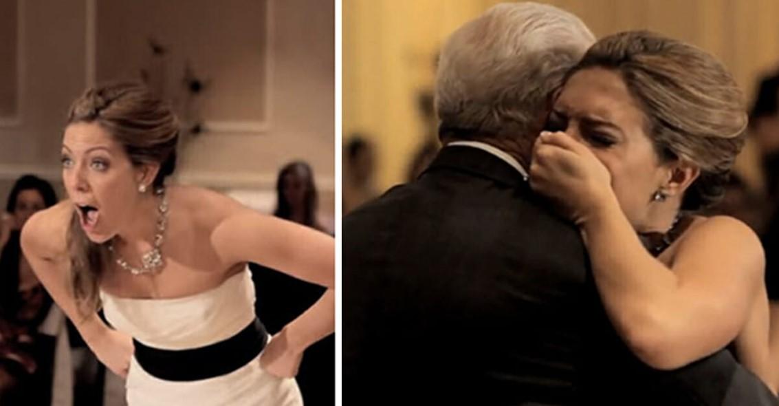 Papa stirbt vor Hochzeit   dann sagt Stimme in der Kirche der Braut, sie soll sich umdrehen